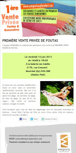 Invitation vente privee Emporia