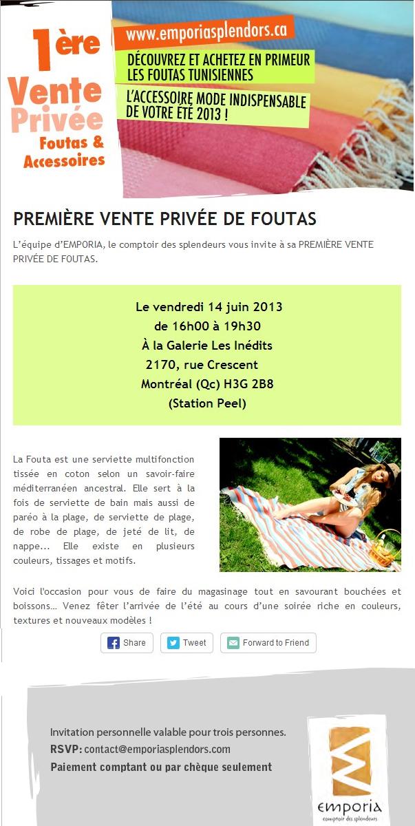 Invitation la vente priv e comptoir des cotonniers - Ventes privees comptoir des cotonniers ...